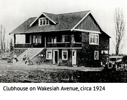Clubhuse on Wakersiah Avenue, 1924